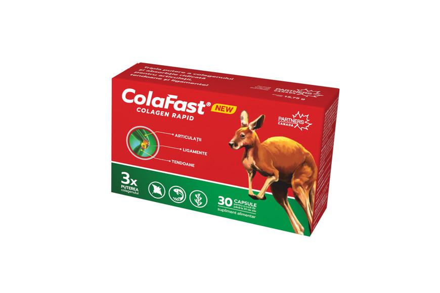 Colafast Colagen Rapid,sustine mobilitatea si flexibilitatea x30 capsule, Partners Canada