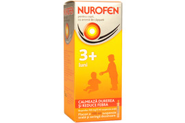 Nurofen 100mg pentru copii 3 luni aroma de capsuni, 100 ml, Reckitt Benckiser Healthcare