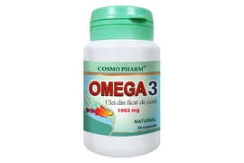 Omega 3 ulei din ficat de cod, 30 capsule, Cosmopharm
