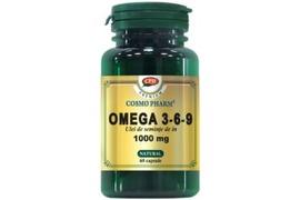Omega 3-6-9 ulei seminte de in, 1000 mg 30 capsule, Cosmopharm