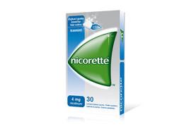 Nicorette Icemint 4mg , guma medicamentoasa masticabila, 30 bucati, Mcneil Products