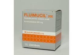 Fluimucil 200mg/plic solutie orala, 30 plicuri, Zambon