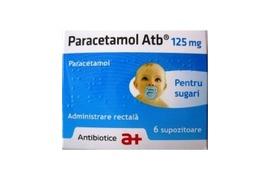Paracetamol 125mg, 6 supozitoare, Antibiotice SA