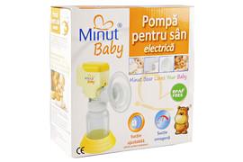 Pompa de san electrica Minut ® Baby cu biberon BPA Free