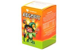 Ascovit cu aroma de capsuni, 20 comprimate, Europharm