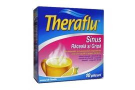 Theraflu Sinus raceala si gripa, 10 plicuri, Novartis