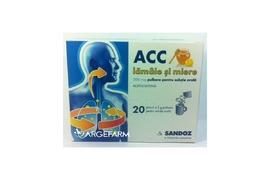 ACC lamaie si miere 200 mg, 20 plicuri, Sandoz