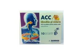 ACC lamaie si miere 600 mg, 10 plicuri, Sandoz