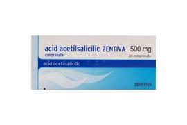 Acid Acetilsalicilic, 500 mg, 20 comprimate, Zentiva
