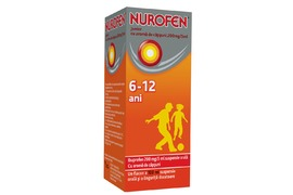 Nurofen Junior cu aroma de capsuni, 6-12 ani, 100 ml, Reckitt Benckiser Healthcare