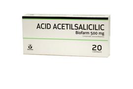 Acid Acetilsalicilic 500mg, 20 comprimate, Biofarm